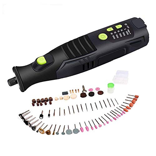 Taladro de potencia sin cuerda Rotary Herramienta de 5 velocidades 4 luces LED eléctrica recargable Mini Taladro herramienta eléctrica de la máquina de grabado y de pulido XUAGMT