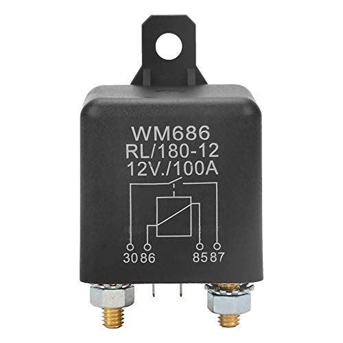 Relé de coche, WM686 100A Relé de arranque de coche de servicio pesado abierto normal para control de encendido/apagado de la batería/interruptores automáticos y arrancadores de 180 CC 12 V