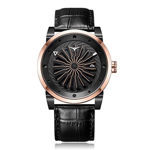 Zinvo Blade Spirit Automático Turbina Acero IP Oro Rosado Negro Fecha Zafiro Reloj Hombres Nome articolo (Titolo) Suggerisci una modifica