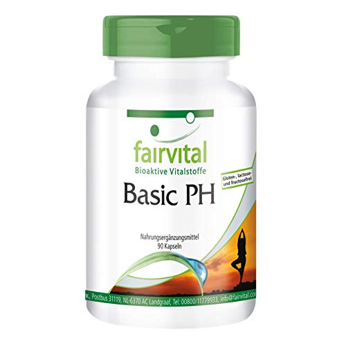 Basic PH - HOCHDOSIERT - VEGAN - 90 Kapseln - Basen-Kapseln mit Calcium, Magnesium und mehr