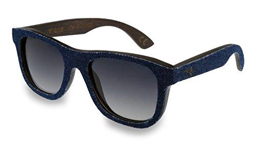 retrostiel Sonnenbrille aus Holz Overseer Denim