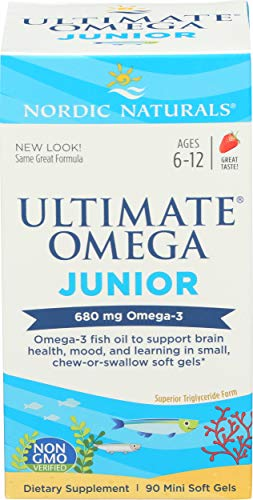 Ultimate Omega Junior, 500 mg, 90 Strawberry Flavoured Chewable Soft Gels
