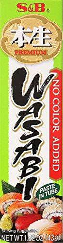 Wasabi Meerrettich Paste scharf, 43g original japanisch, S&B, ohne Farbstoff