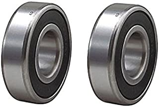 Chrome Precision Sealed Ball Bearing 40mm OD x 19mm 6203-12 (Pack of 2)