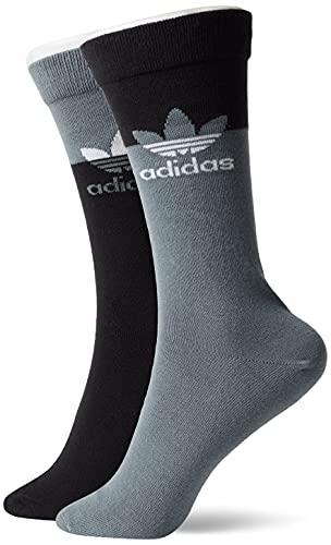 adidas GN4909 BLOCKED THN CRW Socks unisex-adult black/blue oxide XL