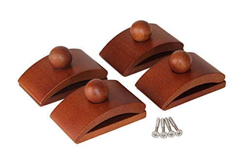 Classy Clamps Wooden Quilt Hangers – 4 Large Clips Dark and Screws for Wall Hangings Hang up and Display Quilts Tapestries Rugs Fiber Art and More