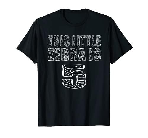 Questa piccola zebra è 5 anni di festa dello zoo di compleanno Maglietta