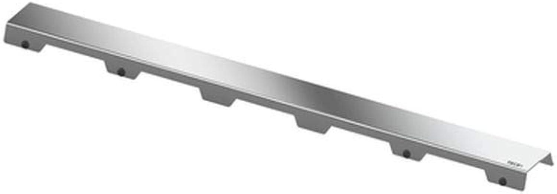 TECE 600982 drainline Designrost steel II  (poliert; Nennlnge  90 cm; Breite  6,6 cm) silber