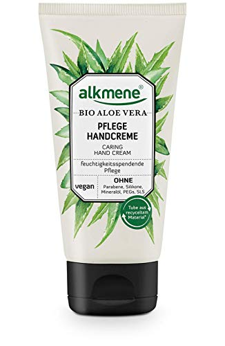 alkmene Handcreme mit Bio Aloe Vera - Handcreme für sehr trockene Hände - vegane Handcreme ohne Silikone, Parabene, Mineralöl, PEGs, SLS & SLES (1x 75 ml)
