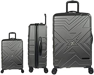 Argent Ensemble DE VALISES Hard Shell ABS 4 Roues Spinner Bagage A Main Leger Cabine Travel Trolley FMXD011ST/_