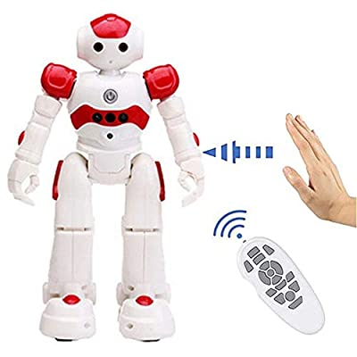 Smart-Robot Tippie - High-Tech Artificial Intelligence Robot, Multi-Function USB Charging Children's Educational Toy, Dancing Remote Control Programmable Robotics (Red)
