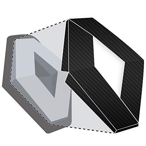JCM®, Abzeichen-Folie für vorne und hinten, Farbe: schwarze Karbonoptik