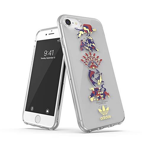 adidas - Carcasa para teléfono móvil Compatible con iPhone 6, 6S, 7, 8, iPhone SE2, Funda Transparente testada contra caídas con diseño Chino y Bordes elevados