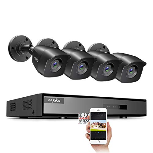 SANNCE 8CH 1080P Lite CCTV Camera System w/ 4x 1080P Outdoor Bullet Cameras No HDD(EXIR Night Vision, Easy Mobile Access, Email & Push Notification)