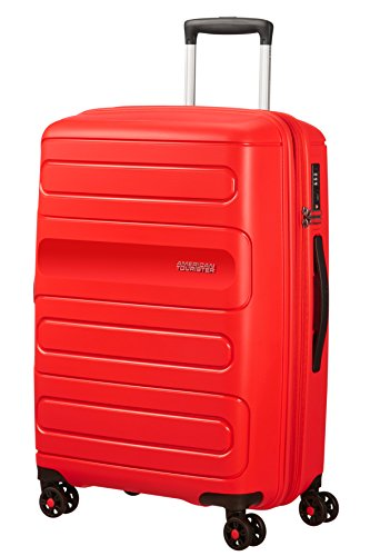 American Tourister Sunside Spinner 68 Expandible, 3.7 kg, 72.5/83.5 l, Rojo (Sunset Red)