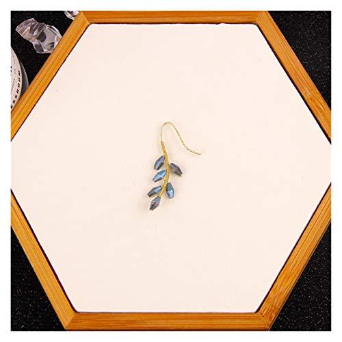 CHENGTAO Hojas De Perlas Modelado Asimetría Oreja Hueso Clip Gancho De Oreja Sin Piercings Pendiente Joyería para Mujeres Regalo (Metal Color : D)