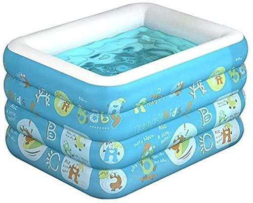 Piscinas Portátil Hogar Inflable Verano Cuatro Capa Hindeling Pool Pool Baño Aisulado Azul Azul XMJ (Color : Blue, Size : 180cm)
