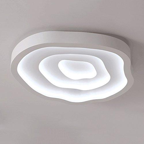 Lámparas de techo rústicas Modern Simple Tree Wheel de tres colores lámpara de techo LED, lámpara de acrílico, cálido dormitorio Sala de Estudio Estudio Iluminación de techo Lámpara de techo Farmhouse