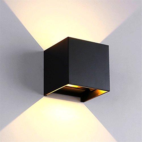 5151BuyWorld lamp, 12 V, 6 W, DC, LED, buitenlamp, aluminium, wand, waterdicht, IP65, modern, nordic stijl, interieur, woonkamer, veranda, tuin, lamp, hoge kwaliteit
