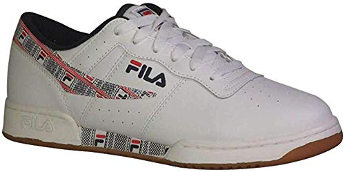 Fila Men's Original Fitness Haze Shoes Sneakers (13, White/Navy/Red)