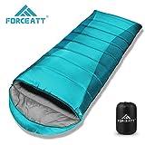 Forceatt Sac de Couchage pour Camping, Température de Confort 0-15°C, Randonnée et Activités d'extérieur, Sac de Couchage...