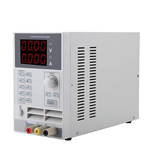 Fuente de alimentación de CC variable, 0-5A/0-30V Tipo de almacenamiento Brujería de conmutación ajustable Fuente de alimentación regulada con pantalla de cuatro dígitos para laboratorio