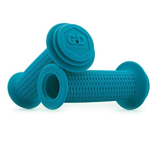 GD Grip Division ® Kinderfahrradgriffe mit Sicherheits Prallschutz und Durchschlagschutz, schadstofffrei, für 22.2 mm Lenker, blau