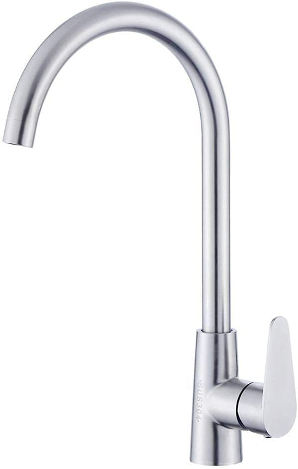 Qpw Stainless Steel Kitchen Sink wash Vegetable Basin hot and Cold Mixer Faucet 1.3KG