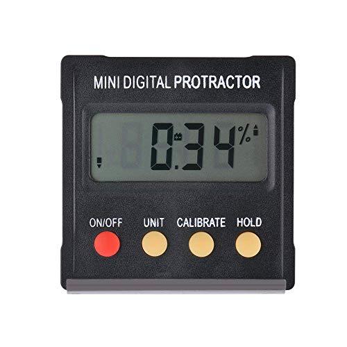 Mini Transportador Digital Clinómetro Buscador de �ngulo Bevel Box Medidor de resolución de 0,1 grados y rango de 4 * 90 grados con imán