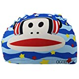 OGOBVCK Popular Cartoon Multi Coloured Children Swimming Cap for Hair Care and Ear Protection Breathable -