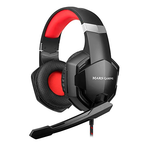 Mars gaming mhx - auriculares superbass 50 mm, micrófono, pc, ps4, xbox, switch