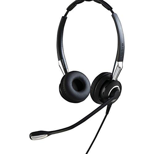 Jabra BIZ 2400 II QD Duo langlebiges Call-Center-Kabel-Headset für Festnetztelefone mit Geräuschunterdrückung und Wideband