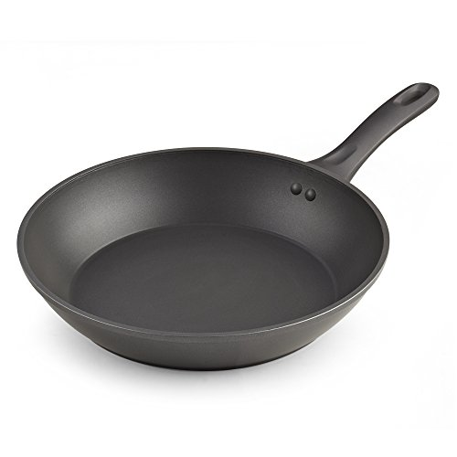 Cook N Home Nonstick Heavy Gauge Skillet Omelet, Grey 12-Inch Fry Pan