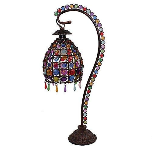 Bohemia iluminación de jardín de rosas de la lámpara lámpara de mesa de salón dormitorio lámpara de cabecera de la lámpara lámpara de escritorio creativa Continental Classic