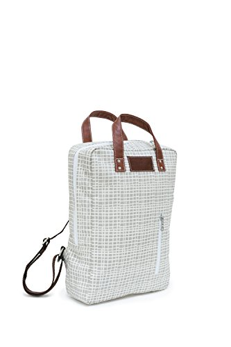 MAIKA Recycled Canvas Zippered Backpack, Woven Grey