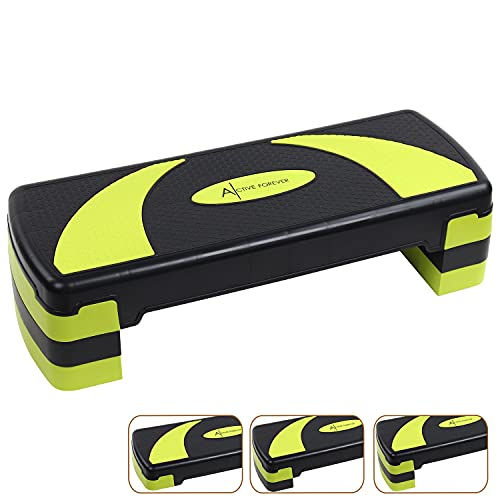 ACTIVE FOREVER Steppers for Exercise 3 Levels, Aerobic Step Board, Adjustable...