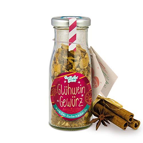 DIY Flasche Glühweingewürz, toller Zutaten-Mix für den eigenen Glühwein, zum Selbermachen, 50 Gramm in einer Mini-DIY-Flasche, süße Kleinigkeit zum Verschenken in der Weihnachtszeit