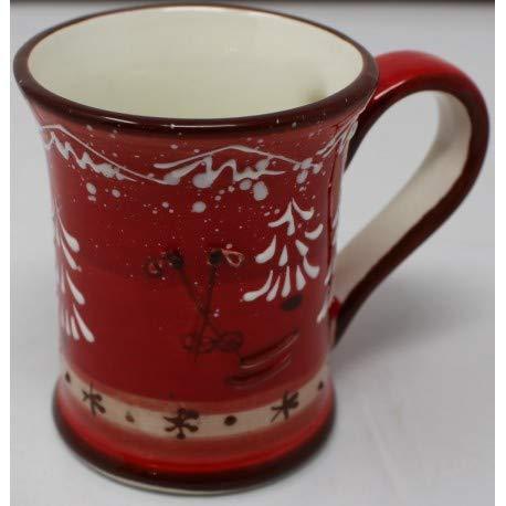 Taza recta con asa de cerámica PISTE ROJO Ø 7 cm x 8,5 cm