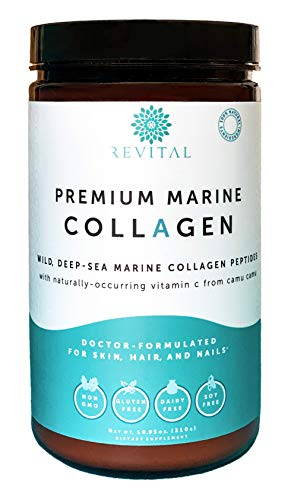 Premium Marine Collagen Protein Powder - Organic Ingredients, Doctor-Formulated, 1.5X More Absorbable Hydrolyzed Peptides - Anti-Aging Hydrolysate Supplement for Skin, Hair, Nails (Paleo/Keto/Kosher)