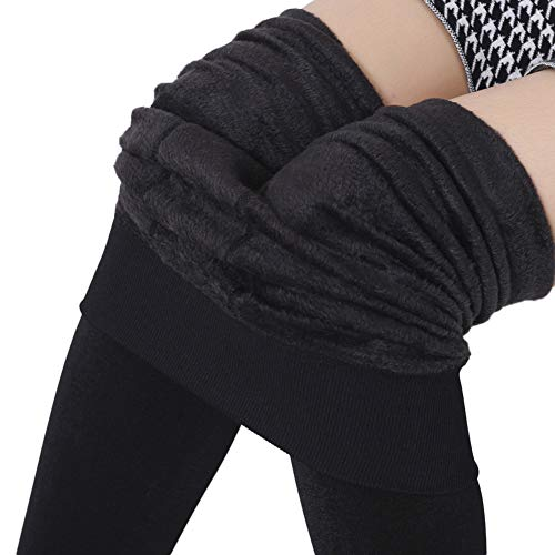 Comcrib Damen Dicke Kompressionsleggings Winter Samt Thermal Underwear Super Dick Leggings Dehnbar Hose Elastizität Hüftheben Thermo Unterhose Körperformung Wärme Thermo Unterwäsche
