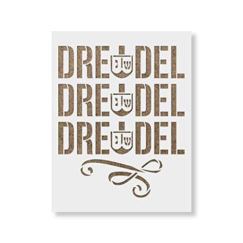 Dreidel Dreidel Dreidel Stencil - Reusable Stencils for Painting - Create DIY Dreidel Dreidel Dreidel Home Decor