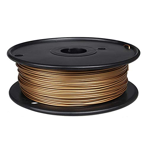 3d Printer Filament 1.75mm, PLA Metal Filament 0.5kg, Added Metal Powder, Metallic Texture-Bronze D