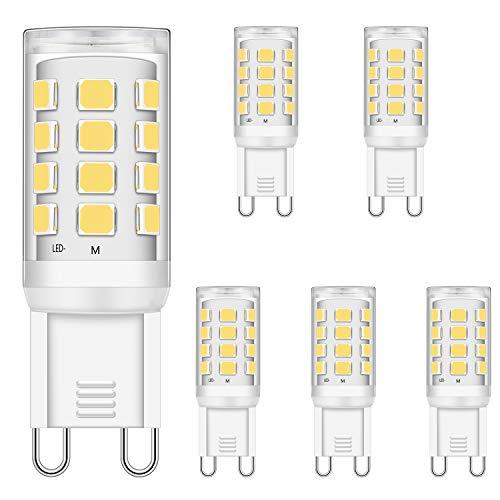 LED G9 Lampadine 3W Bianco Naturale 4000K equivalenti a 15W 20W 25W 28W 33W alogene Lampadine, 320LM, CRI> 85, G9 Presa Lampada, senza sfarfallio, non dimmerabile, CA 220-240 V, confezione da 5