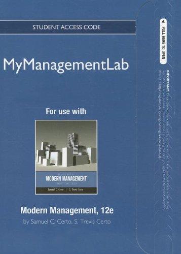 MyManagementLab -- Access Card -- for Modern Management: Concepts and Skills (MyManagementLab (access codes))