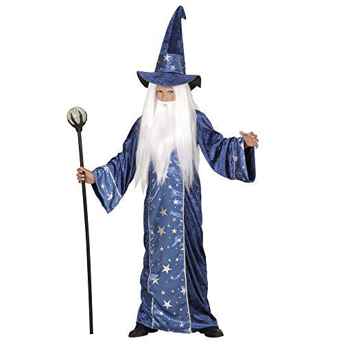 Widmann WDM15226 - Costume Mago Fantasy, Blu, 128 cm