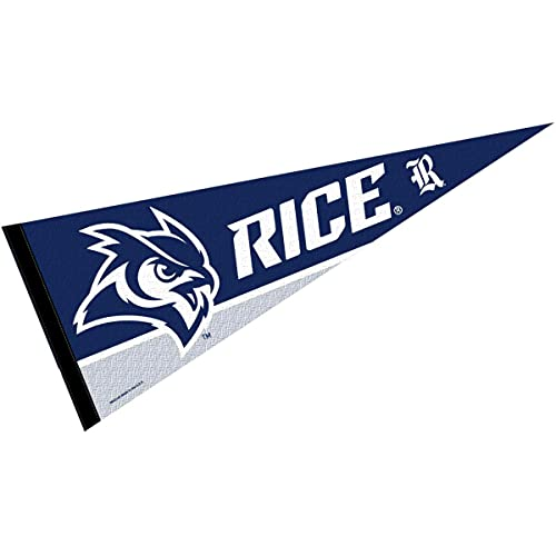 College Flags & Banners Co. Rice Owls Pennant Full Size Felt