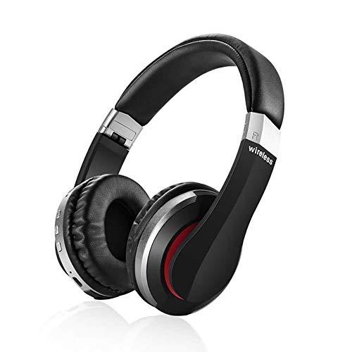 QCSMegy Auriculares Auricular Inalámbrico Bluetooth 5.0, Plegable Gaming Headset con Micrófono Incorporado, De Carga USB, Deportes Auriculares Estéreo Bluetooth (Disponible En Cuatro Colores)