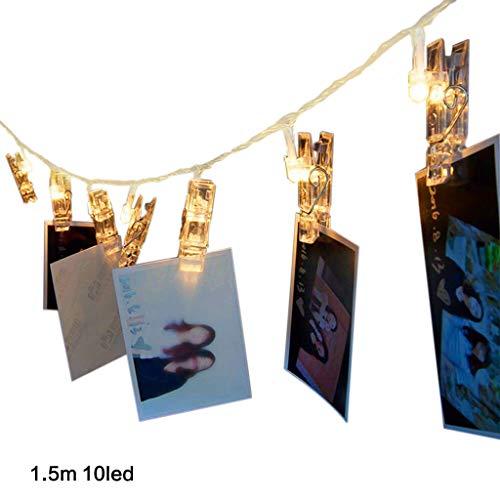 Guirnalda de luces para fotos, funciona con pilas, para interiores 10