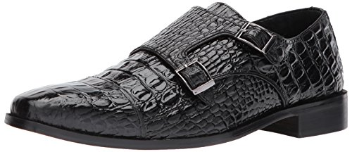 Stacy Adams Golato Men's Slip On 9.5 2E US Black