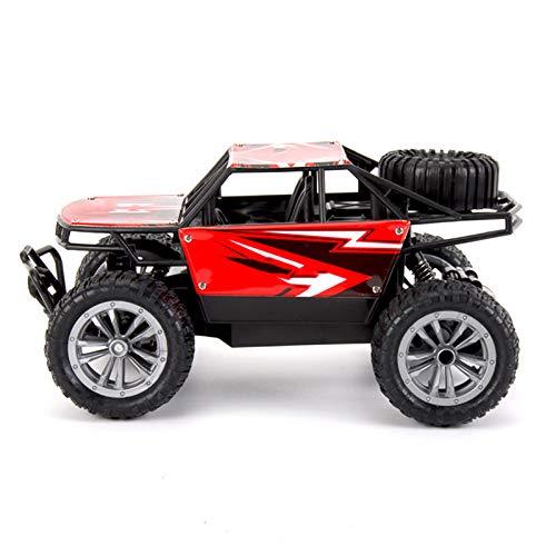 LJKD Coche de Control Remoto para niño, camión de Control Remoto de 2.4GHz, Radio Control Remoto, relación 1:18, Coche eléctrico de Juguete para niños,Rojo